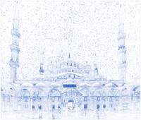 Blueprint Drawing of modern building 9 Istanbul Bl