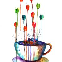 Coffee Cup Art Prints & Posters by Emma Kaufmann