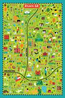Illustrated Map of Atlanta by Nate Padavick by They Draw & Cook & Travel