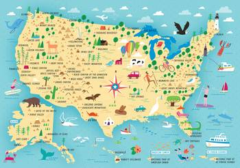 Us National Park Illustrated Map By Nate Padavick By They