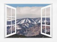 Ski Slopes Open White Picture Window Frame Art Vie