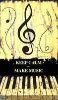KEEP CALM AND MAKE MUSIC Yellow