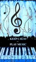 KEEP CALM AND PLAY MUSIC Blue