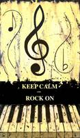 KEEP CALM AND ROCK ON Yellow