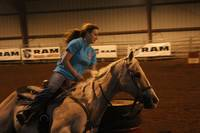 Barrel Racer on Horseback