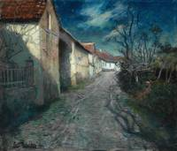 Frits Thaulow - Moonlight in Beaulieu, 1904