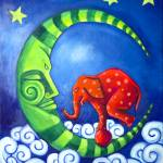 Elephant On The Moon Prints & Posters