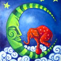 Elephant On The Moon Art Prints & Posters by Coriana Eastman