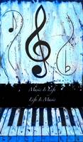 Music Is Life - Life Is Music - Blue