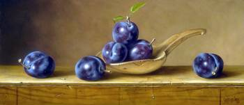 Plums And Wooden Spoon