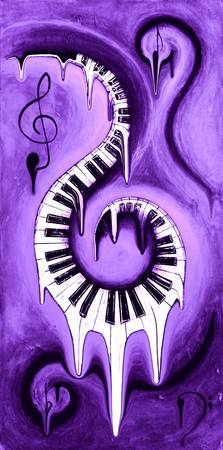 Hot Purple - Swirling Piano Keys - Music In Motion