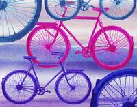 Abstract Bicycles Silhouettes Collection II