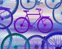 Abstract Bicycles Silhouettes Collection III