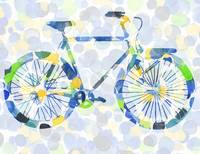 Polka Dotted Bicycle for Baby Room