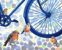 Birds And Bikes Collection II for Baby Room