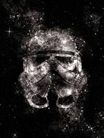 Space galaxy stormtrooper art print