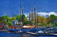 Springtime In The Harbor by Kirt Tisdale