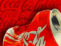 Coca-Cola Can Crush Red Logo Background