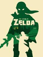 Alternative zelda minimalist art print