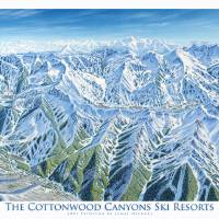"""Cottonwood canyons, Utah"" by jamesniehuesmaps"