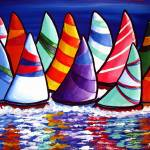 Flock of Sailboats Prints & Posters