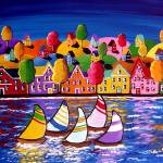 Colorful Shoreline Reflections Prints & Posters