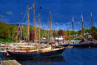 Black Sailboats by Kirt Tisdale