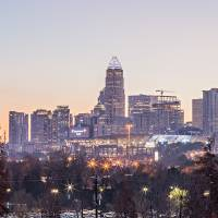 stock-photo-morning-sunrise-over-charlotte-city-do by Alexandr Grichenko
