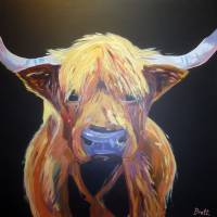"""sally highland cow"" by BrettHudsonArt"