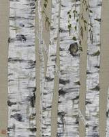 Birch on Linen Tall 1 (36 x 24)