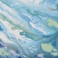 """""Follow Me to the Sea"" Coastal Abstract"" by ChristineKrainock"