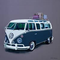 Blue VW Camper