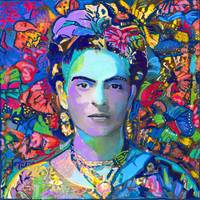 Blue Frida in the Butterflies