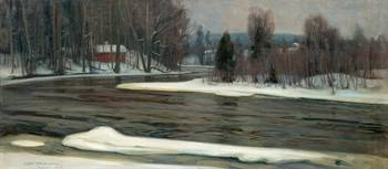 VICTOR WESTERHOLM, WINTER VIEW FROM KARJAA