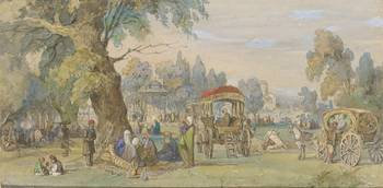 Amedeo Preziosi - in a Turkish Park