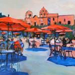 Plaza de Panama Balboa Park - Red Umbrellas by RD Riccoboni