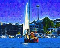 Seattle Sailing by Kirt Tisdale