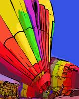 Hot Air Baloon Almost Ready by Kirt Tisdale