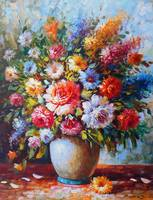 Exquisite Still Life Flowers In Vase