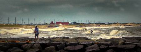 Angry Surf at Indian River Inlet in Delaware