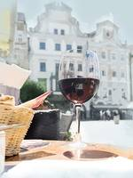 A Glass of Wine in the Piazza