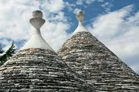 Typical conical roofs of Trulli houses