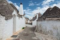 Beautiful town with Trulli houses
