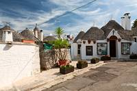 Traditional Trulli houses in Alberobello