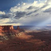 Sunbeams into Canyonlands National Park Art Prints & Posters by Roupen Baker