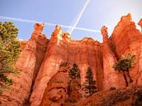 A5 Bryce Canyon Hoodoos With Contrails