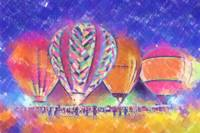 Hot Air Balloons Night Festival In Pastel by Kirt Tisdale