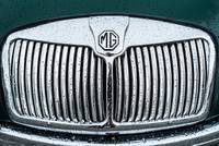 MG chromed grille