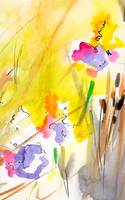 Abstract Summer Splendor Watercolor