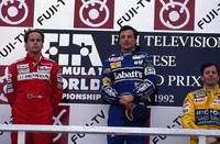 1992 Japanese Grand Prix Podium